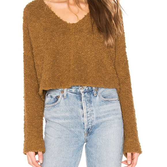 Free People Sweaters - Free people popcorn pullover moss sweater small